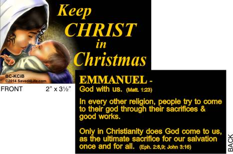 Keep Christ In Christmas (Mary) Business Card Tract