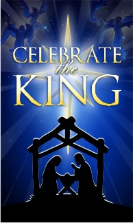 "Celebrate the King Christmas Banner 36""x60"" CANVAS"