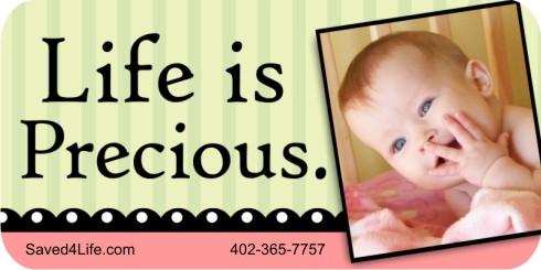 Life is Precious 1x2 Envelope Sticker