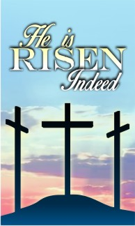 "Calvary He Is Risen Easter Banner 36""x60"" - Click Image to Close"