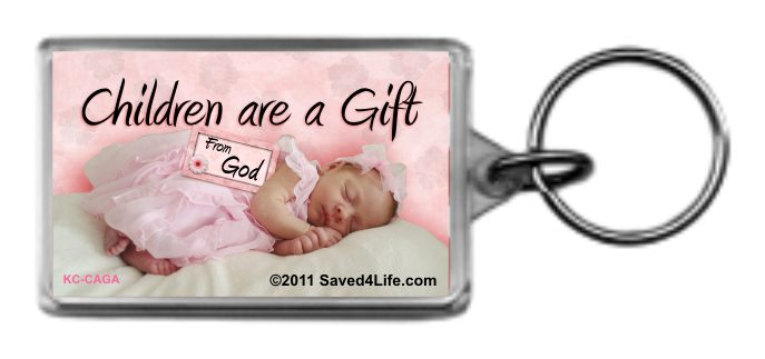 Children are a Gift From God 1.25 x 2 Keychain