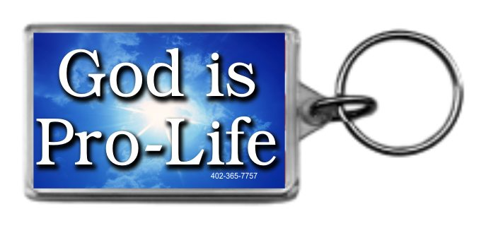 God Is Pro-Life 1.25x2 Keychain - Click Image to Close