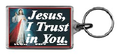 Jesus I Trust in You 1.25x2 Keychain