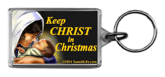 Keep Christ In Christmas (Mary) 1.25x2 Keychain