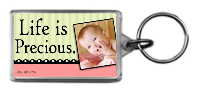 Life is Precious 1.25x2 Keychain