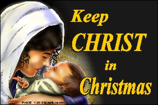 Keep Christ In Christmas (Mary) 36x54 Vinyl Poster