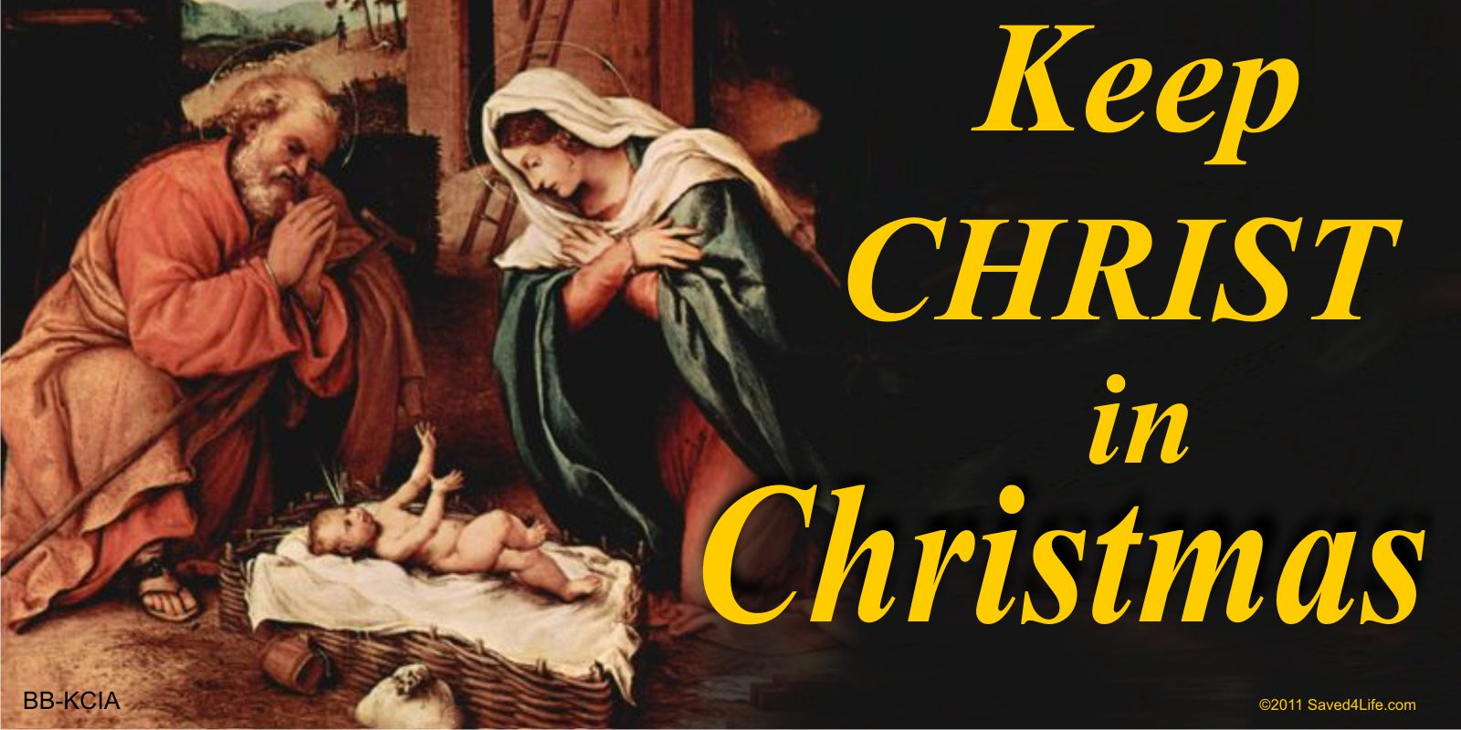 Keep Christ In Christmas (Nativity) 1.25x2 Keychain