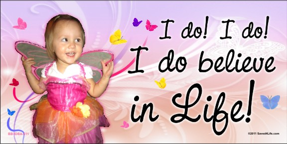I do! I Do Believe In Life! 4 x 8 Vinyl Banner