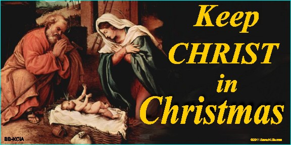 Keep Christ In Christmas (Nativity) 4 x 8 Vinyl Banners