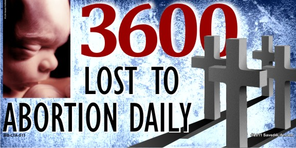 3600 Lost To Abortion Daily 4 x 8 Vinyl Banner