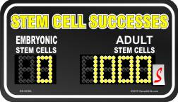 Stem Cell Successes 1x2 Envelope Sticker - Click Image to Close