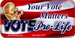 Your Vote Matters (Fetus) 1x2 Envelope Sticker