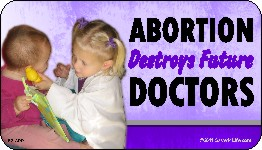 Abortion Destroys Future Doctors 1x2 Envelope Sticker