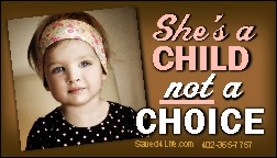 She's A Child Not A Choice! Business Card Tract