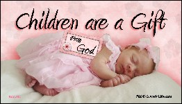 Children Are A Gift from God Business Card Tract