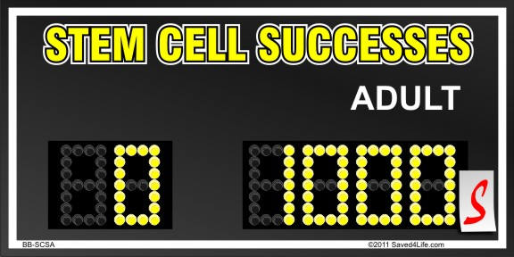 Stem Cell Successes Yard Sign 18x24