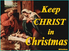 Keep Christ In Christmas (Nativity) Yard Sign 18x24