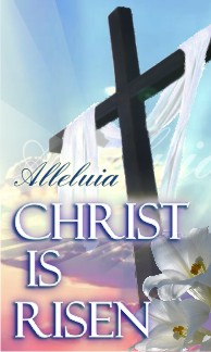 "Christ Is Risen Cross Easter Banner 36""x60"""