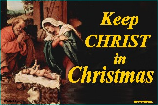 Keep Christ In Christmas (Nativity) 36x54 Vinyl Poster