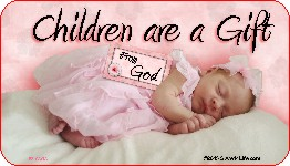 Children Are A Gift From God 1x2 Envelope Sticker