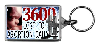 3600 Lost To Abortion Daily 1.25x2 Keychain - Click Image to Close