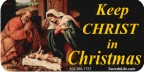Keep Christ In Christmas (Nativity) 1x2 Envelope Sticker