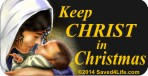 Keep Christ In Christmas (Mary) 1x2 Envelope Sticker
